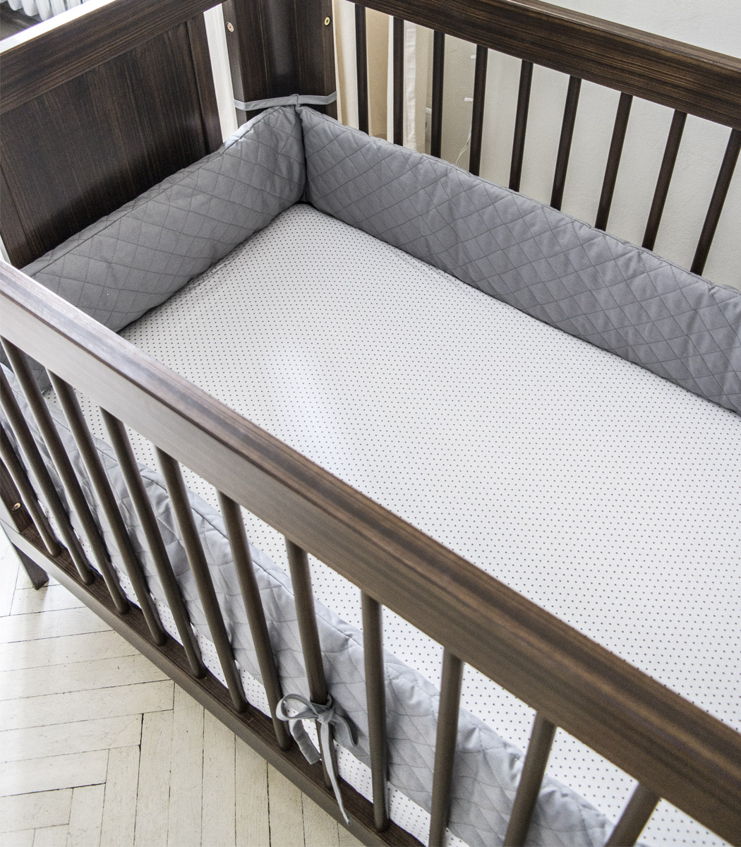 Milky Grey Ochraniacz Pikowany Na Całe łóżeczko 12060 Cm Długość 360 Cm